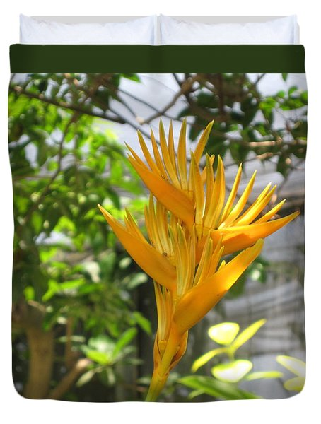 Yellow Bird Of Paradise Duvet Cover