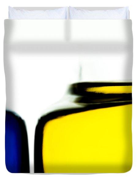 Yellow Blue Duvet Cover by Bob Orsillo