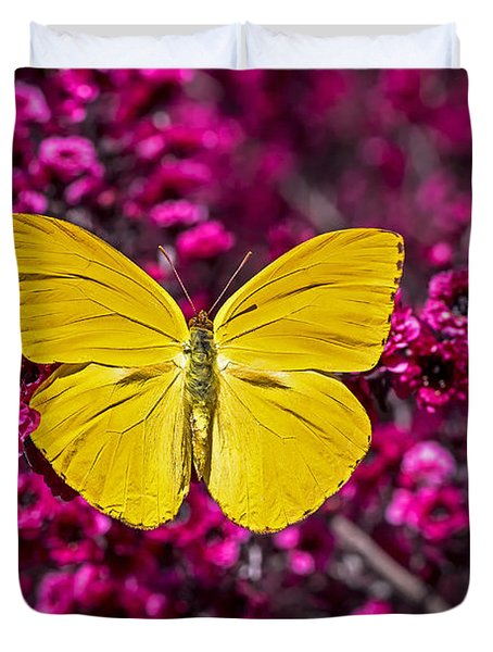 Yellow Butterfly Duvet Cover