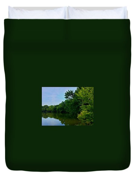 Yellow Creek Duvet Cover by Chris Tarpening