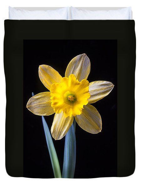 Yellow Daffodil Duvet Cover by Garry Gay