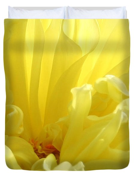 Yellow Dahlia Burst Duvet Cover