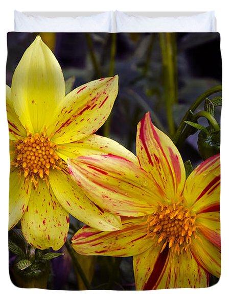 Yellow Dahlia Duvet Cover