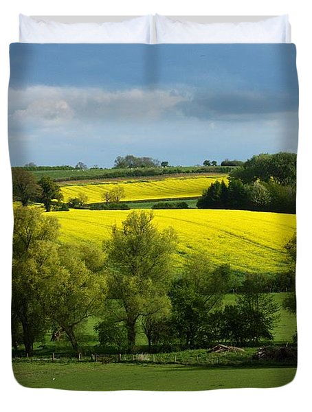 Yellow Fields In The Sun Duvet Cover