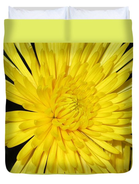 Yellow Flower Closeup Duvet Cover
