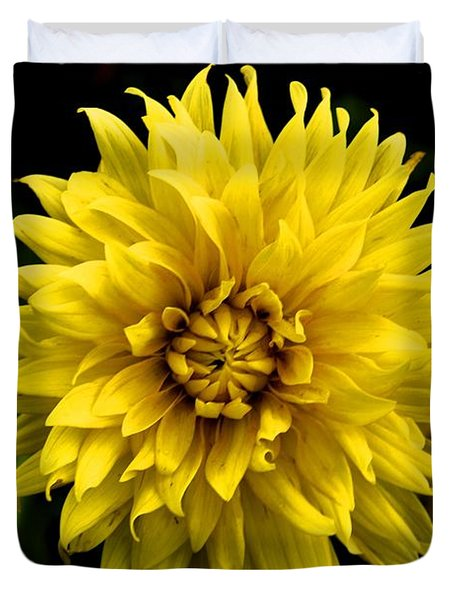 Yellow Flower Duvet Cover by Matt Harang