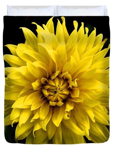 Duvet Cover featuring the photograph Yellow Flower by Matt Harang