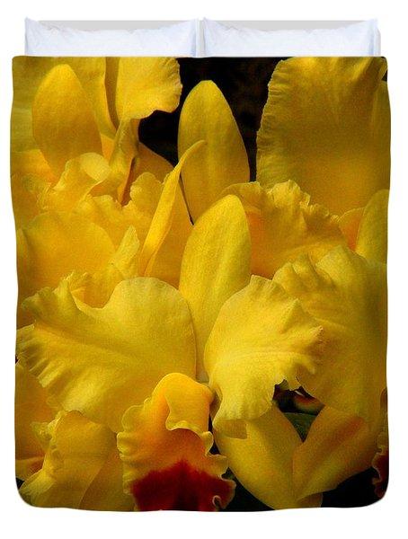 Yellow Folds Duvet Cover