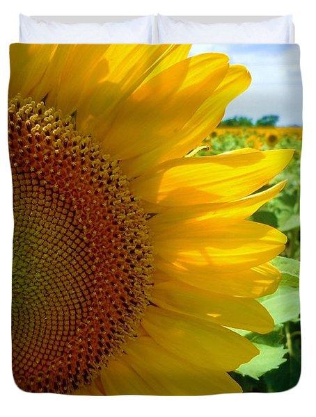 Yellow Glory #2 Duvet Cover by Robert ONeil