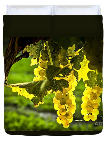 Yellow Grapes In Sunshine Duvet Cover