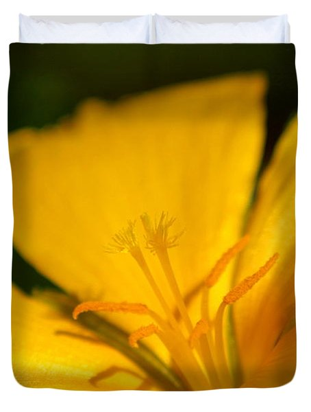 Duvet Cover featuring the photograph Yellow by Greg Allore
