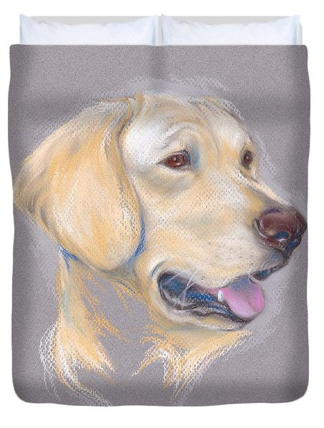 Yellow Labrador Retriever Portrait Duvet Cover