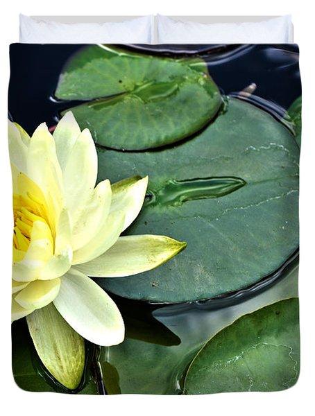 Yellow Lotus - Botanical Art By Sharon Cummings Duvet Cover