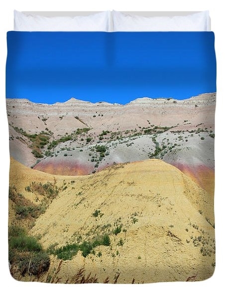 Yellow Mounds Badlands National Park Duvet Cover