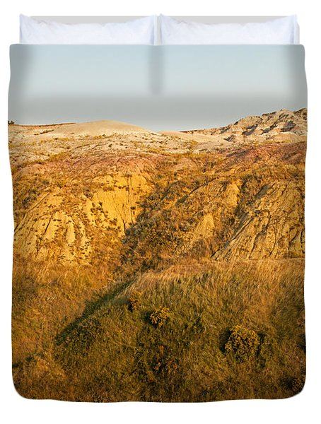 Yellow Mounds Overlook Badlands National Park Duvet Cover