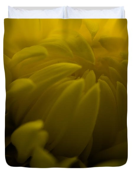Yellow Mum Duvet Cover