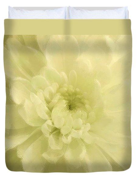 Yellow Mum Luminous Painted Blossom Duvet Cover