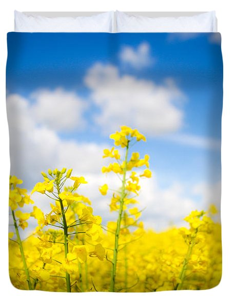 Yellow Mustard Field Duvet Cover