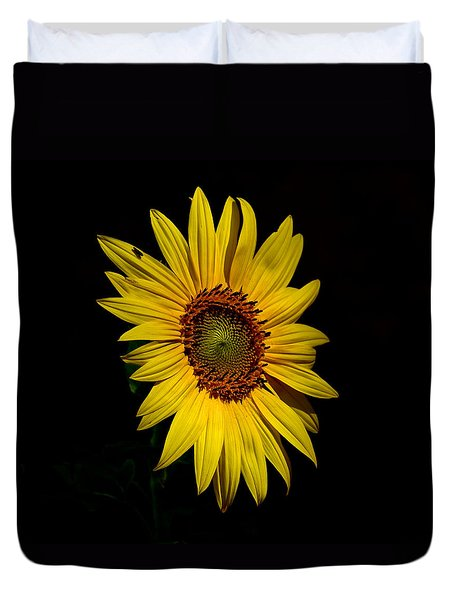Yellow On Black Duvet Cover