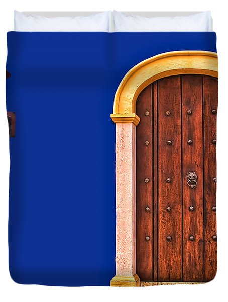 Door And Lamp Duvet Cover