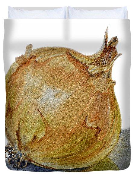 Yellow Onion Duvet Cover