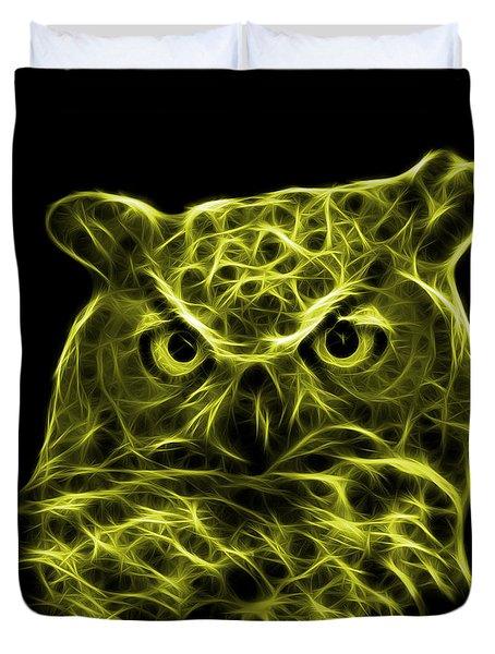 Yellow Owl 4436 - F M Duvet Cover