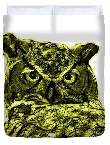 Yellow Owl 4436 - F S M Duvet Cover