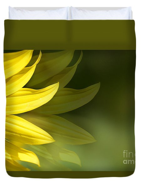 Sunflower Petals  Duvet Cover