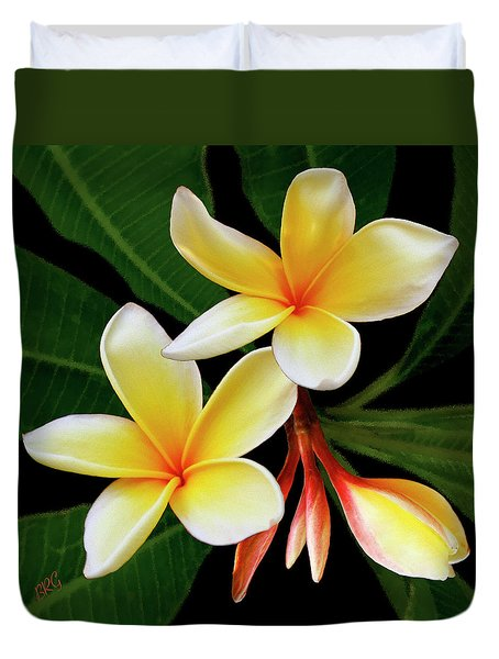 Yellow Plumeria Duvet Cover