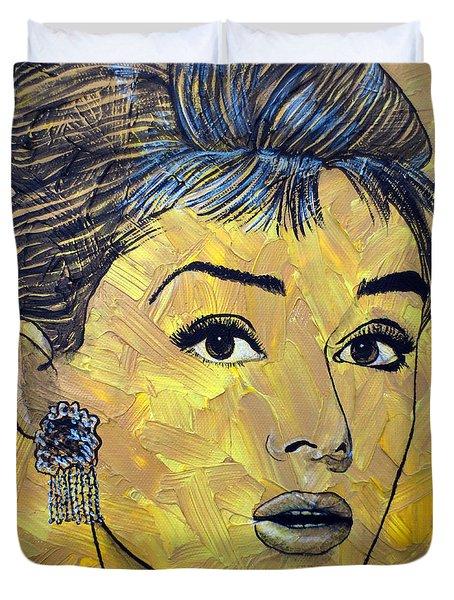 Yellow Pop Audrey Duvet Cover