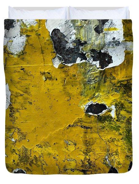 Yellow Post Duvet Cover