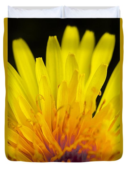 Duvet Cover featuring the photograph Yellow by Raffaella Lunelli