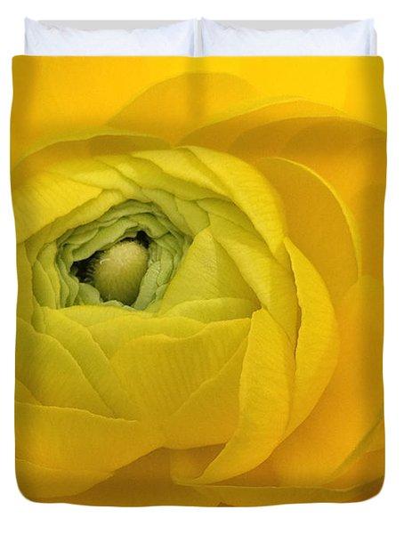 Yellow Ranunculus  Duvet Cover