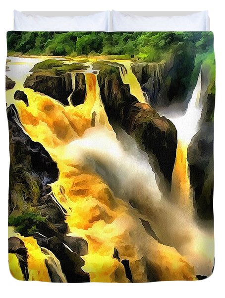 Yellow River Duvet Cover
