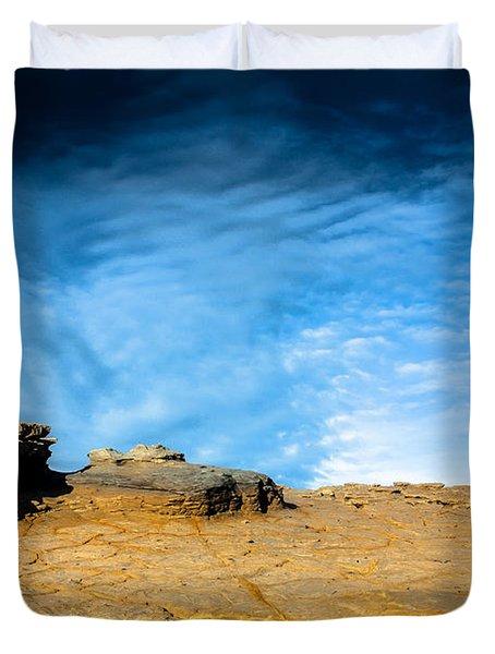 Yellow Rock Duvet Cover