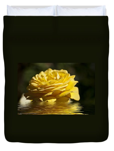 Yellow Rose Flood Duvet Cover