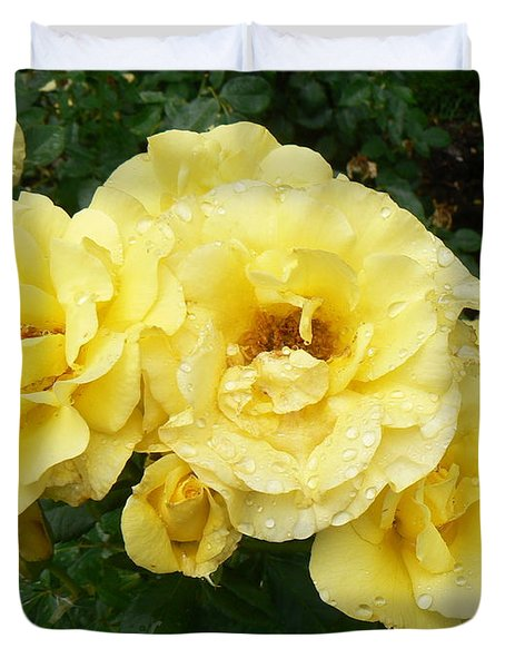 Duvet Cover featuring the photograph Yellow Rose Of Pa by Michael Porchik
