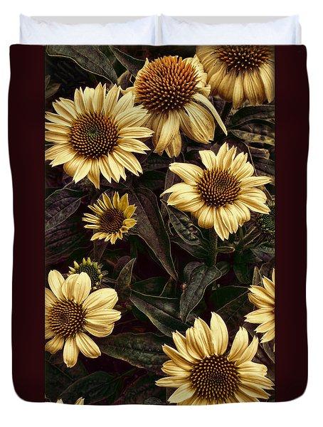 Yellow Sombrero Coneflower Duvet Cover