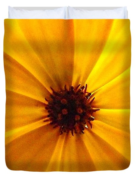 Yellow Splendour Duvet Cover by Clare Bevan
