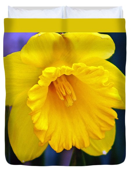 Duvet Cover featuring the photograph Yellow Spring Daffodil by Kay Novy