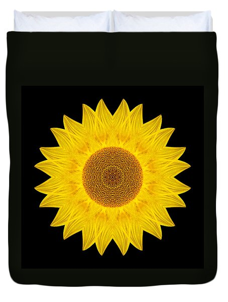 Yellow Sunflower Ix Flower Mandala Duvet Cover
