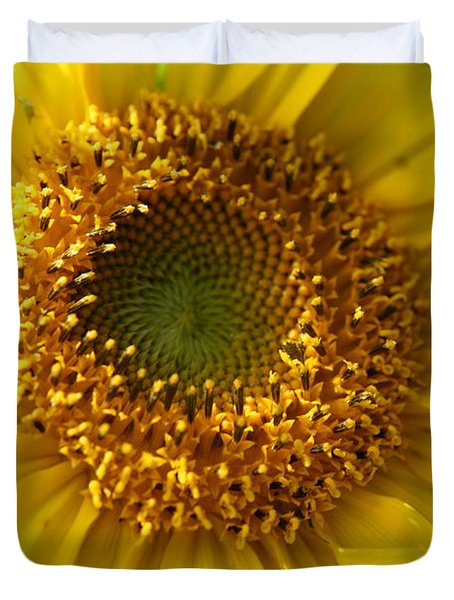 Duvet Cover featuring the photograph Yellow Sunshine by Neal Eslinger
