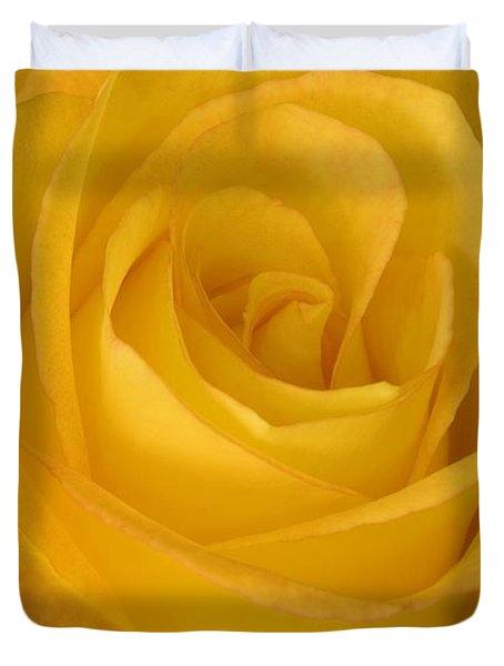 Yellow Tea Rose Duvet Cover by John Pitcher