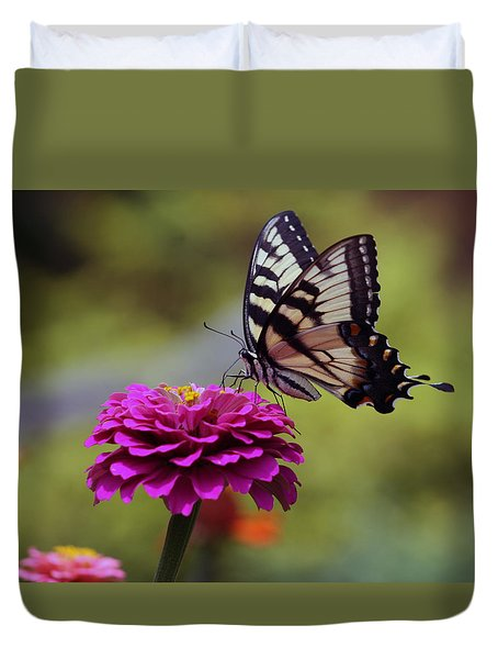 Yellow Tiger Swallowtail Butterfly Duvet Cover
