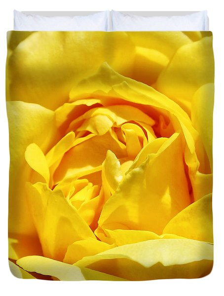 Yellow Tourmaline Rose Palm Springs Duvet Cover by William Dey