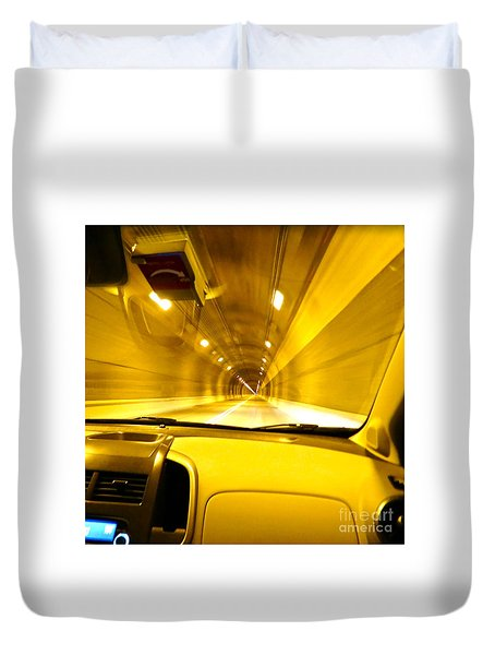 Yellow Tubes Duvet Cover