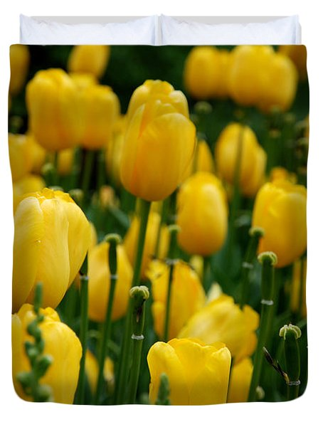 Yellow Tulip Sea Duvet Cover