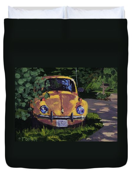 Yellow Vee Dub Duvet Cover