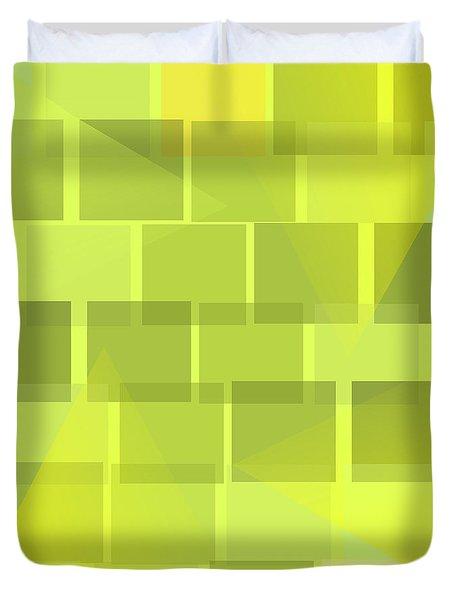 Yellow Whimsy Duvet Cover