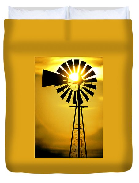 Yellow Wind Duvet Cover